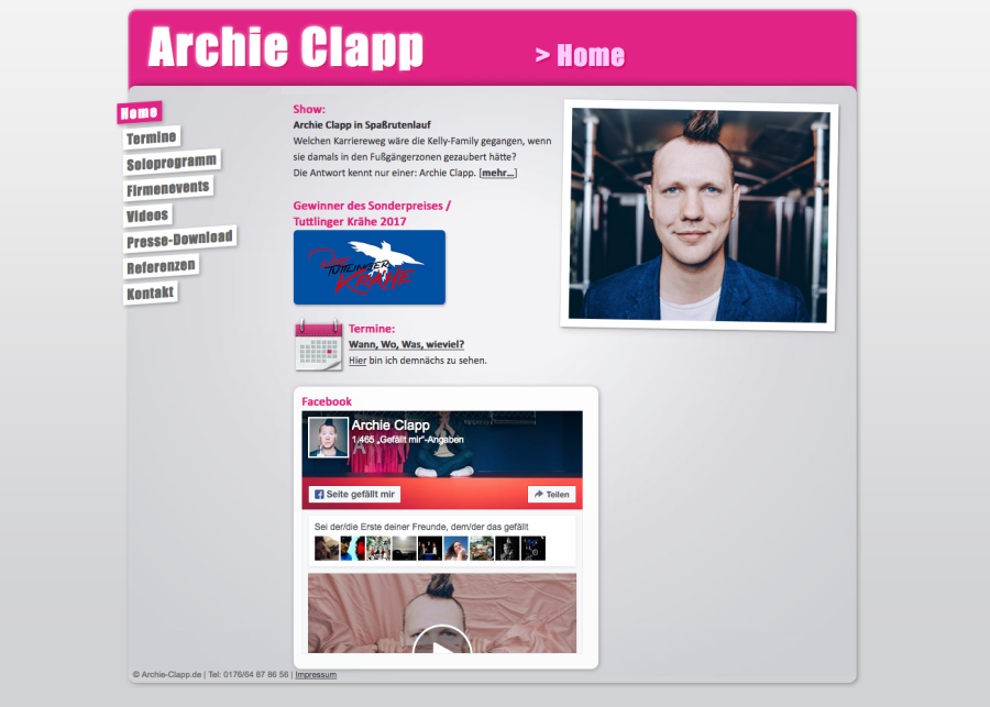 Homepage Archie Clapp