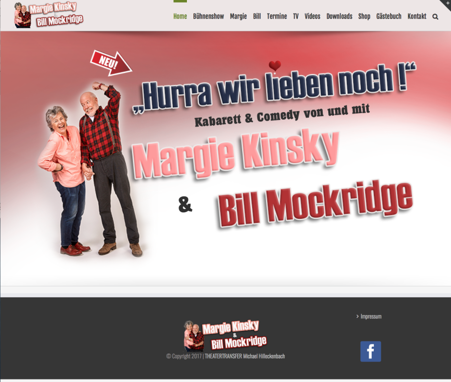 Homepage von Margie & Bill